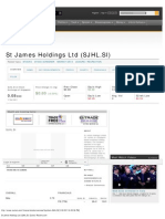 St James Holdings Ltd (SJHL.si) Quote_ Reuters