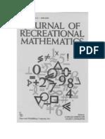 Charles Ashbacher - Journal of Recreational Mathematics (1999-2000)