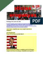 Noticias Uruguayas Domingo 8 de Enero de 2012