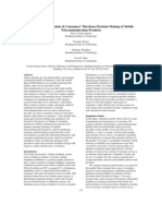 Agent Based Simulation of Consumers' Purchases Decision Making of Mobile Telecommunication Products