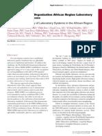 Gershy-Damet Etal WHO African Region Lab Accreditation AJCP 2010