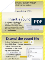 How to Make Music Play Right Through A PowerPoint 2003 Slideshow