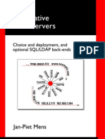Alternative DNS Servers - Choice and Deployment and Optional SQL LDAP Back-Ends