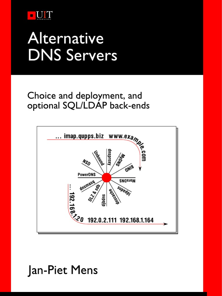 Alternative DNS Servers - Choice and Deployment and Optional SQL
