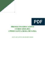 proyecto educativo 2010-2011