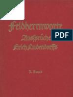 Ludendorff Erich - Feldherrnworte (Band 3), Ludendorffs Verlag
