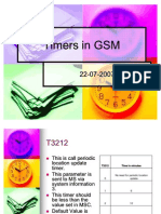 Timers in GSM