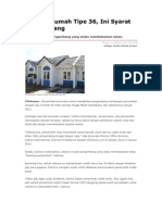 Kliping Berita Online  Perumahan Rakyat  Tanggal 10 Januari 2012