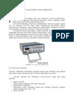 Alat Ukur Kontrol Pada Generator