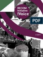 RECOM Initiative !Voice 2-2011