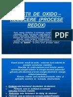 Reactii de Oxido Reducere Procese Redox