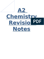 A2 Chemistry Revision Notes