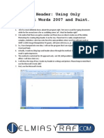 Tutorial Of Making SUPERB Blog HEADER using Microsoft Word and Paint