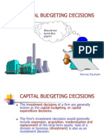 Capital Budgeting Decisions