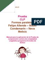 Manual C.L.P. - Prueba de Comprensión Lectora de Complejidad Lingüística Progresiva