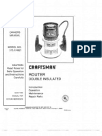Craftman Router Manual