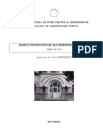 Bazele Constitutionale Ale Administratiei Publice (BCAP)
