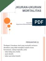 UKURAN-UKURAN MORTALITAS