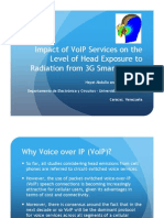 Impact of VoIP Services on the Level of Head Exposure to Radiation from 3G Smartphones