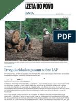 Irregular Ida Des Pesam Sobre IAP - Vida e Cidadania - Gazeta Do Povo