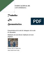 TRABALHO DE HERMENEUTICA