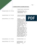 XII Date Sheet