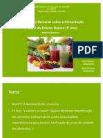 Planificação semanal 1º CEB alimentos