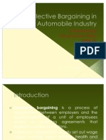 PPT on Collective Bargaining in Automobile Industry