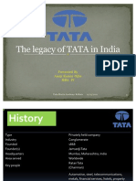PPT on the Legacy of TATA in India