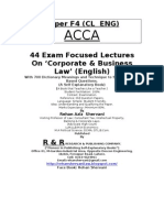 F4-Corporate & Business Law ACCA- Free Lectures From the Book 44 Exam Focused Lectures on Corporate & Business Law by Rehan Aziz Shervani-Cell # 0333-4324961
