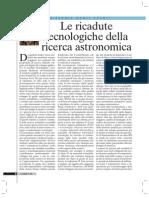 Le ricadute tecnologiche della ricerca astronomica