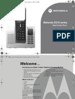 Motorola D210 Userguide XZ-En