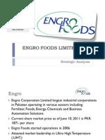 Engro Foods Strategic Management Final Presentation