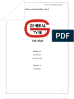 General Tyre Balance Sheet Analysis (2006-1010)
