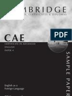 5011930 Cae Advanced Sample Paper 4