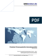 Firmenauskünfte - International - Preisliste