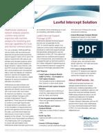 Lawful Intercept Support Datasheet