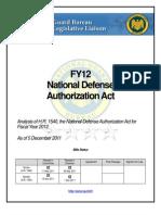 National Guard Analysis - Fy12 Ndaa