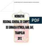 Normativa Provisional Regional General de Competiciones de GR, GAM, GAF, TRAMPOLIN 2012. Doc