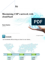 Paulo Chainho Maxim is Ing CSPs Network With Cloud and SaaS