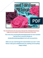 Re Purposed T-shirt Flower Tutorial PDF