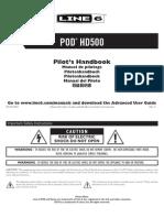 POD HD500 Quick Start Guide (Rev C) - English
