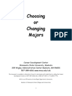 Choosing and Changing Majors July 2011
