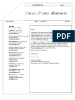 Career Abstracts
