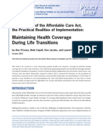 Maintaining Health Coverage During Life Transitions - Final Report