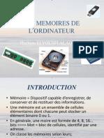 LES MEMOIRES DE L'ORDINATEUR