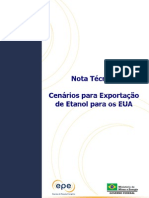 Cenários para Exportação de Etanol para os EUA