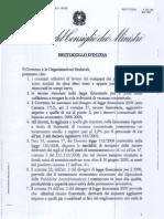 CISL UIL Protocollo Intesa 30 Ottobre 2008
