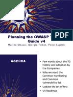 OWASP Testing Guide - OWASP Summit 2011