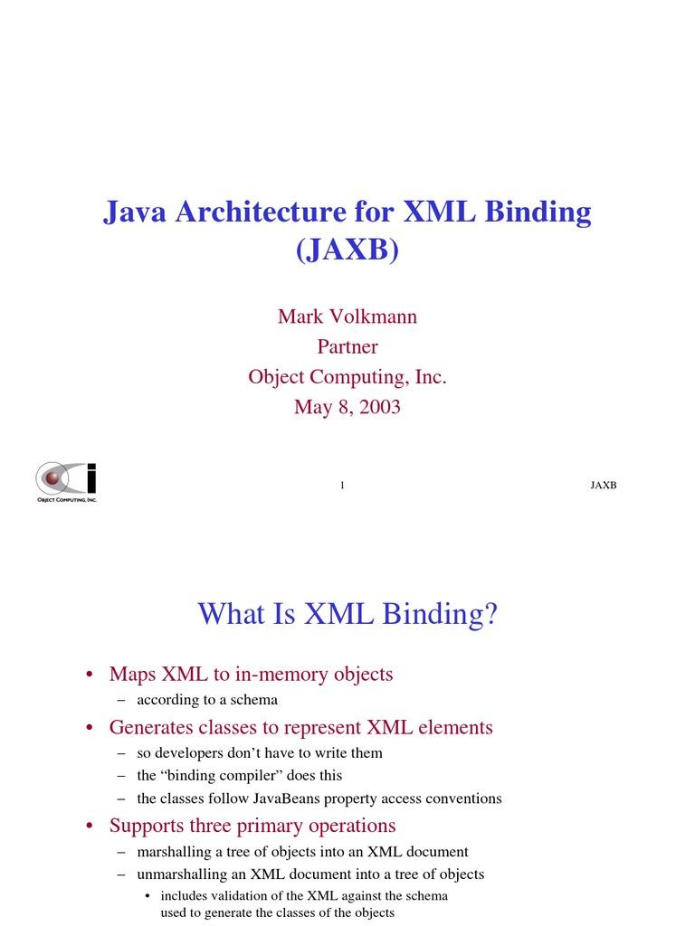 JAXB | Xml Schema | Xml